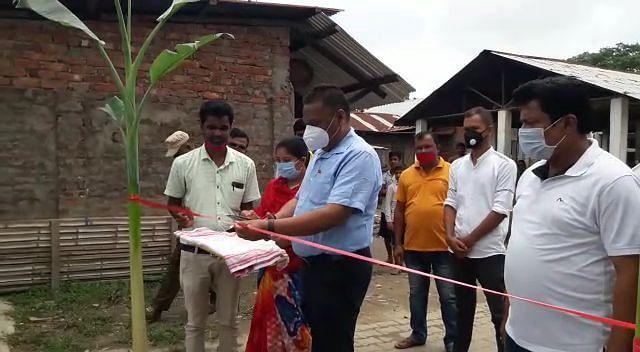 नगाबंधा गांव पंचायत में तीन योजनाओं की रखी गई आधारशिला