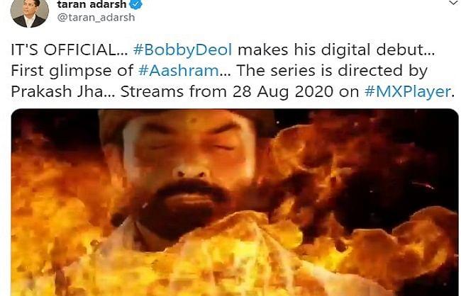 Actor Bobby Deol's web series 'Ashram' teaser released