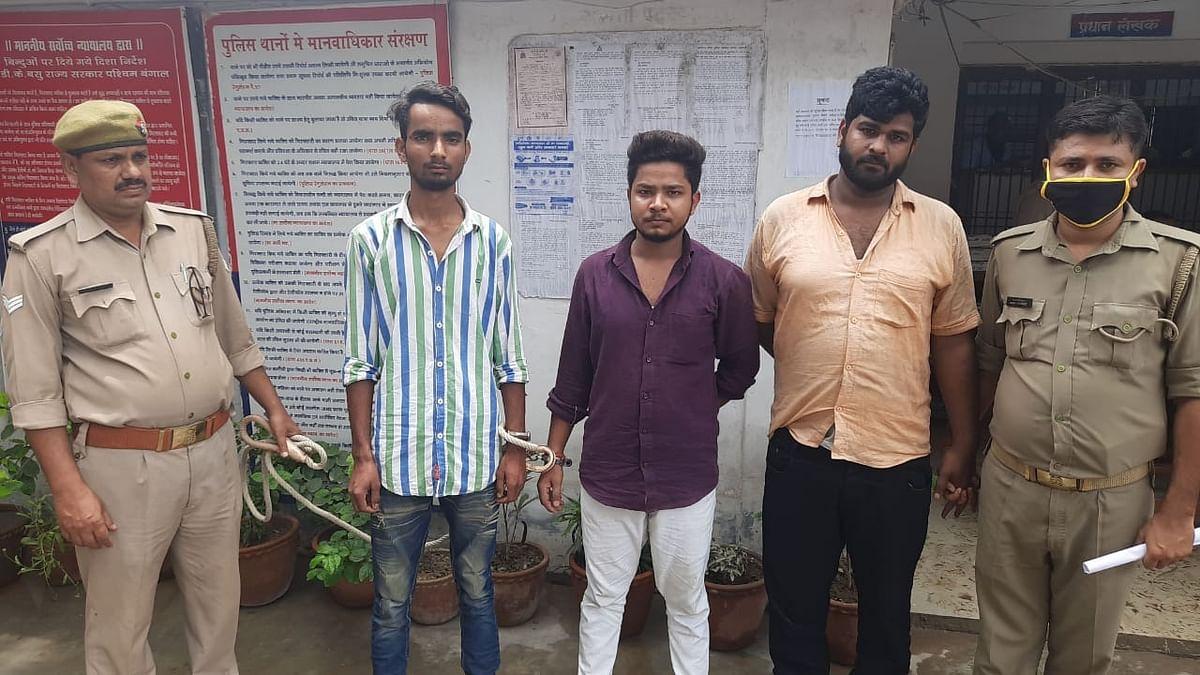 वाराणसी : चौबेपुर पुलिस ने मुठभेड़ में तीन शातिर बदमाशों को दबोचा, लूट का सामान बरामद