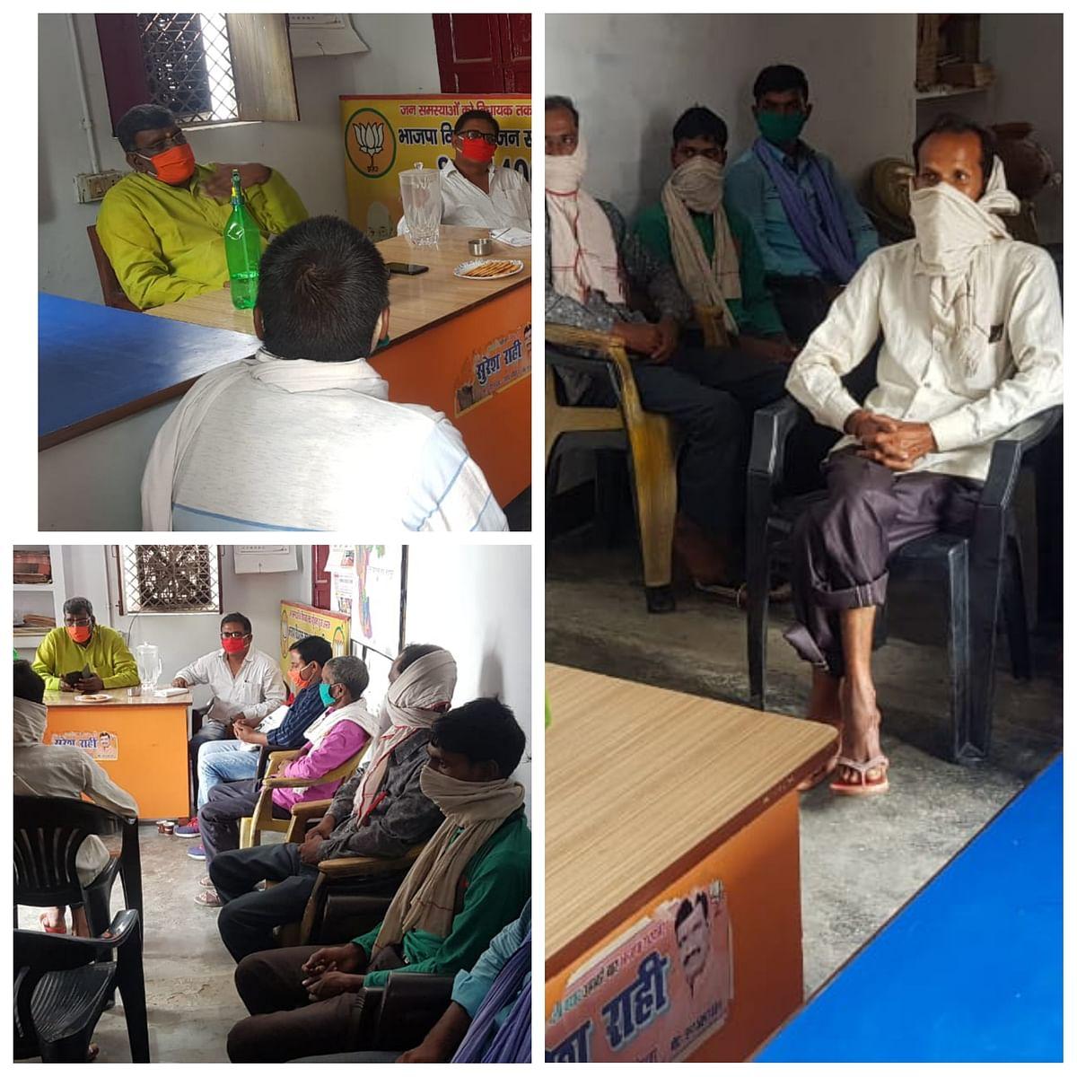 सीतापुर: हरगांव विधायक ने आवास पर लगायी जन चौपाल, कहा देश व प्रदेश विकास के पथ पर-सुरेश राही