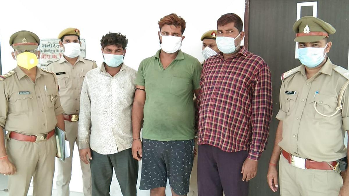पुलिस ने मुठभेड़ मे अंतर्राज्यीय तीन पशु तस्कर पकड़ने का किया दावा