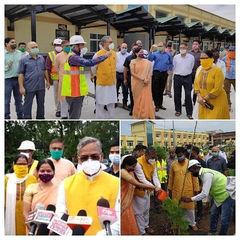 योग नगरी ऋषिकेश रेलवे व सीवर  ट्रीटमेंट प्लांट का मुख्यमंत्री ने किया औचक निरीक्षण