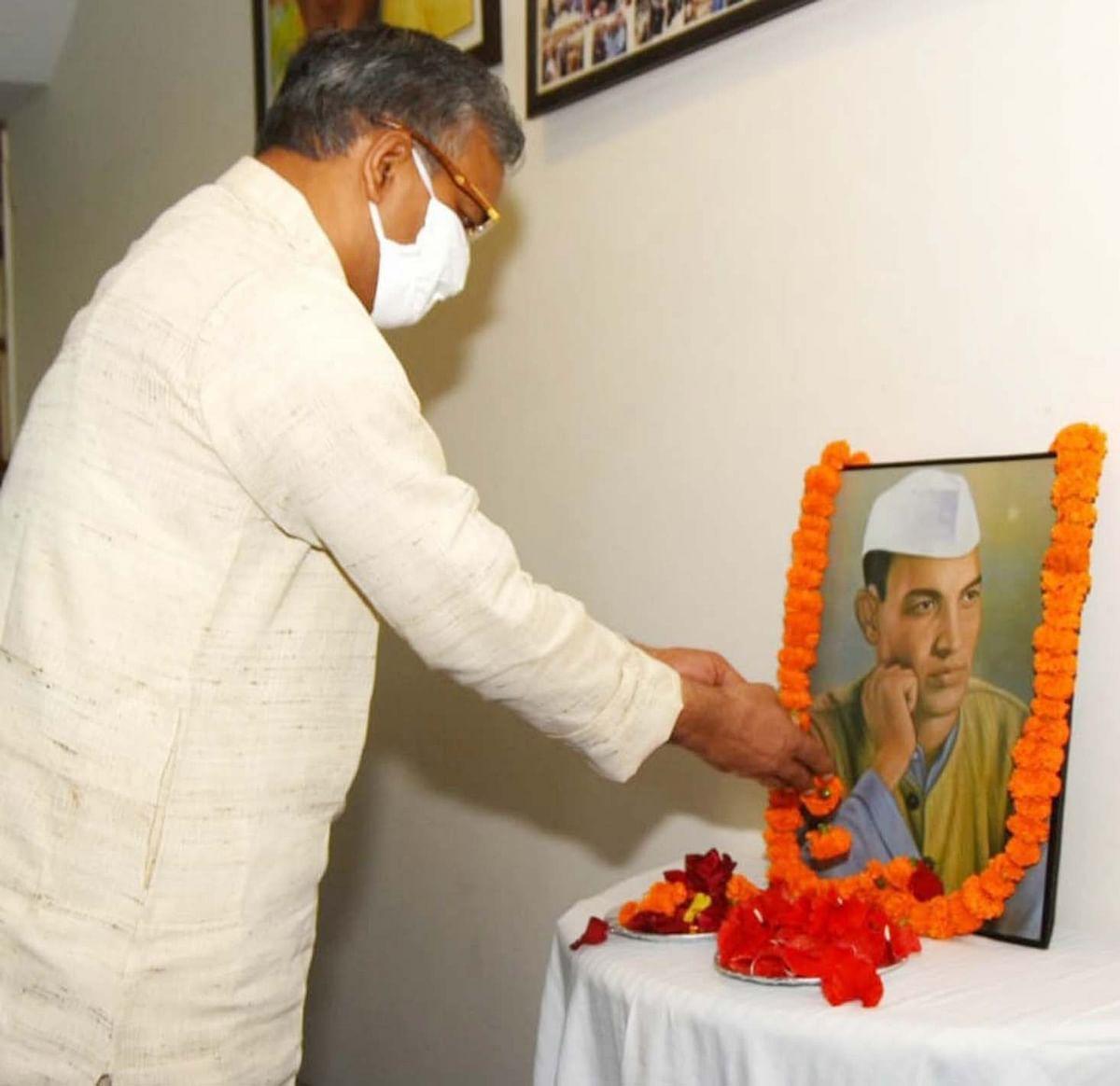 सीएम त्रिवेन्द्र ने शहीद श्रीदेव सुमन जी की पुण्य तिथि पर श्रद्धांजलि अर्पित की