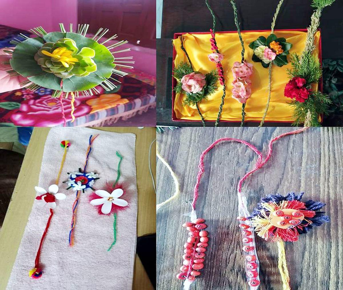बच्चों ने जंगली फल-फूलों व घासों से बनाईं 'जैविक राशियां'