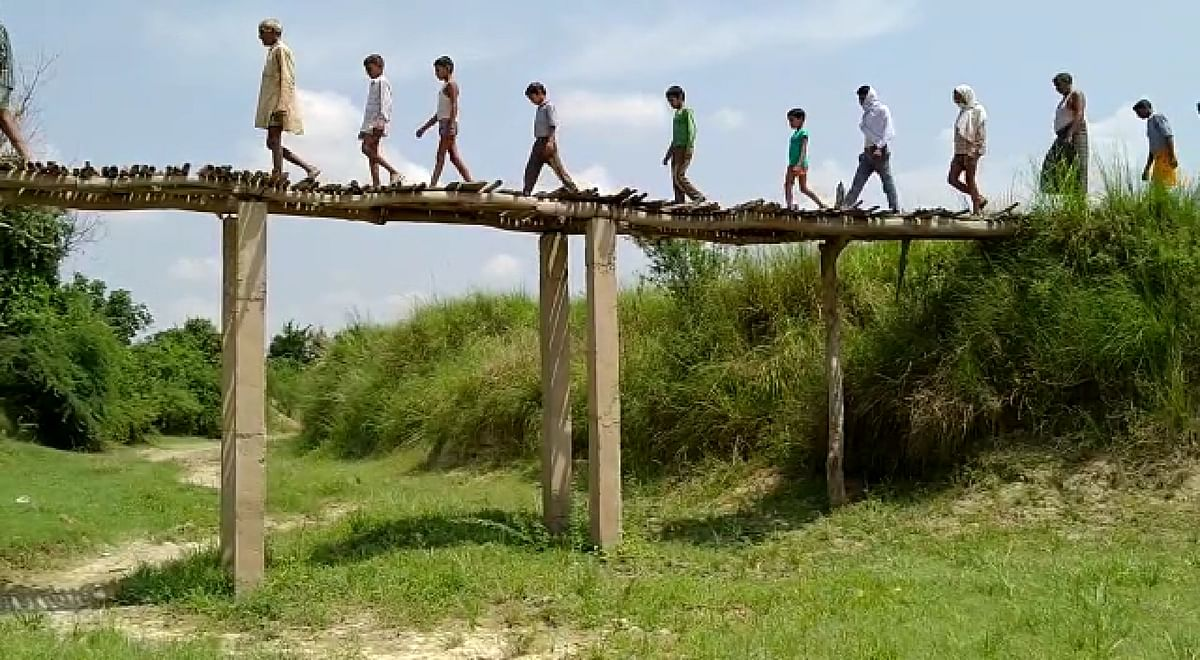 कोशिश करने वालों की हार नहीं होती, कहावत को सच करता कानपुर देहात का लकड़ी पुल