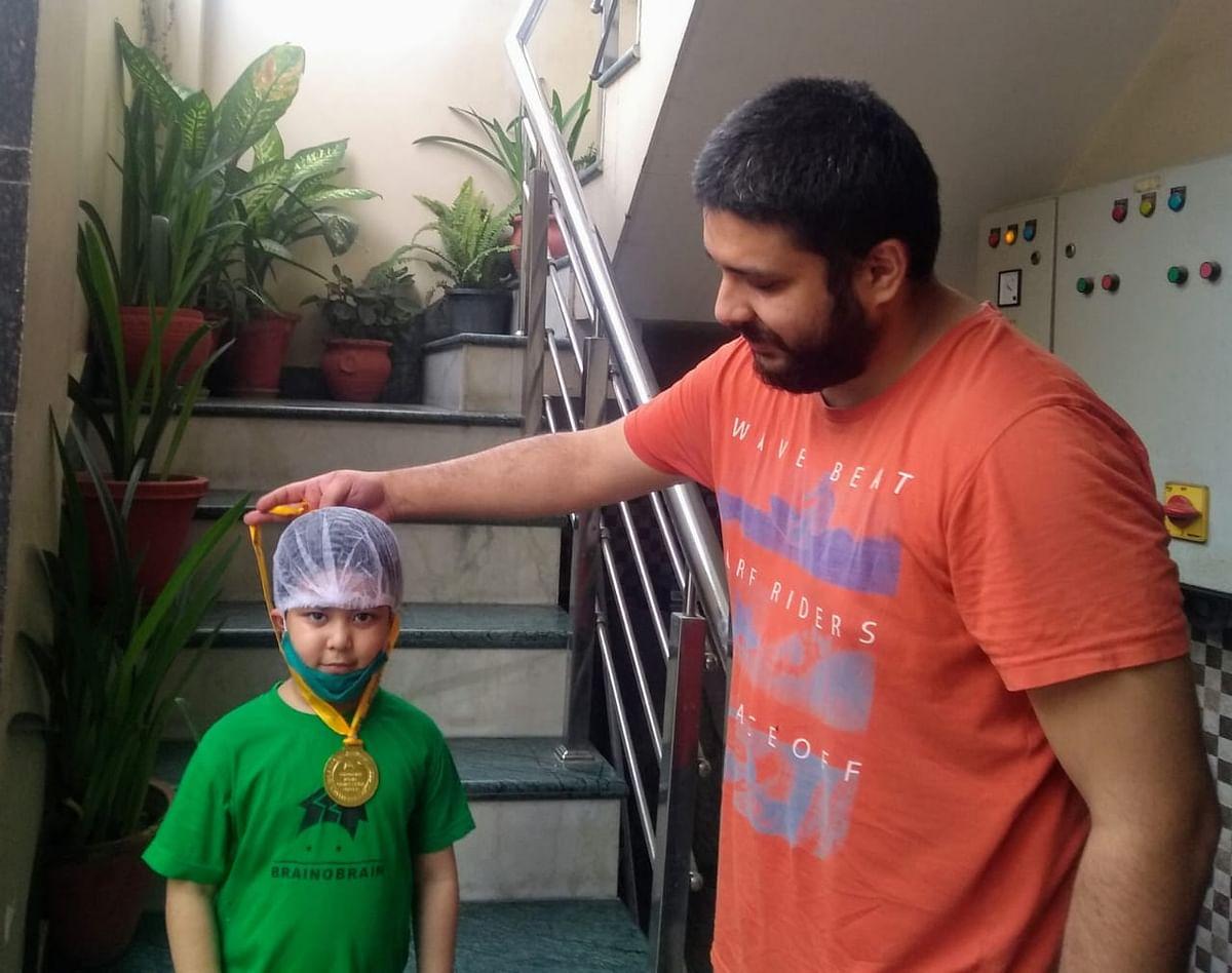 अबेकस प्रतियोगिता में गोल्ड मेडल जीत छह वर्षीय वैष्णवी रमन ने जमाई धाक