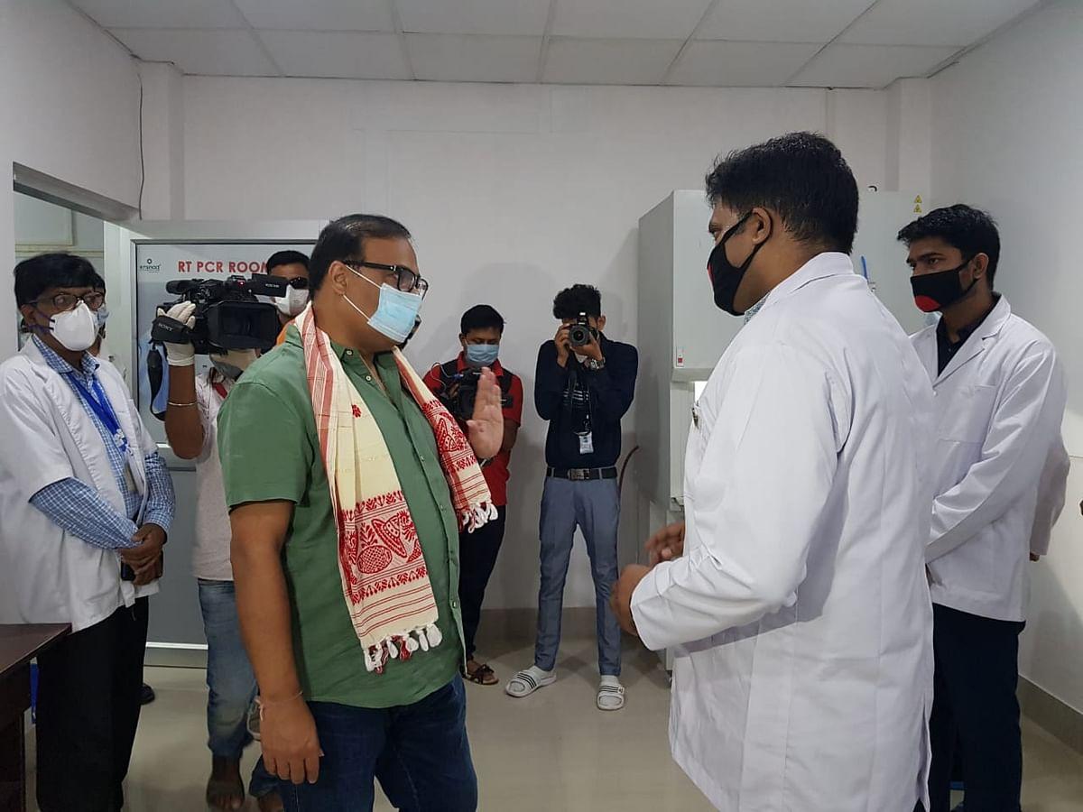 स्वास्थ्य मंत्री ने किया मॉलिक्यूलर बायोलॉजी परीक्षण केंद्र का उद्घाटन