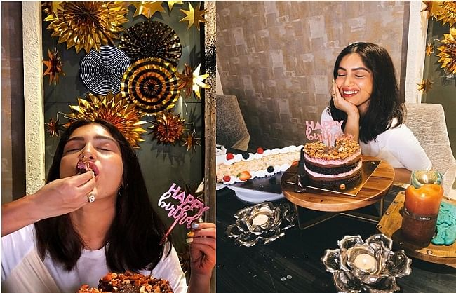 अभिनेत्री भूमि पेडनेकर ने केक काटकर सेलिब्रेट किया अपना जन्मदिन,सोशल मीडिया पर शेयर की तस्वीर