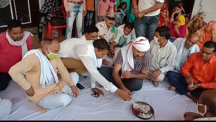 थानाधिकारी ने राखी का रिश्ता निभाया, धर्म की बहन के बेटों की शादी में भरा भात