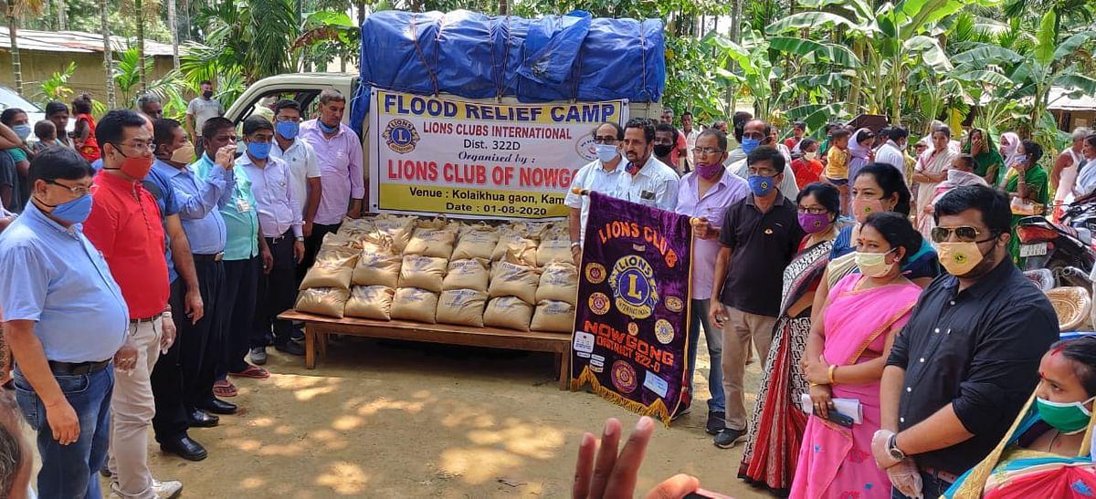 बाढ़ पीड़ितों की सेवार्थ आगे आया लायंस क्लब ऑफ नगांव