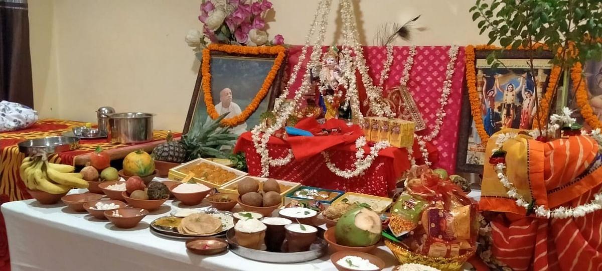 श्री राधारानी का प्राकट्योत्सव उल्लास के साथ मनाया गया, कोरोना से मुक्ति की प्रार्थना
