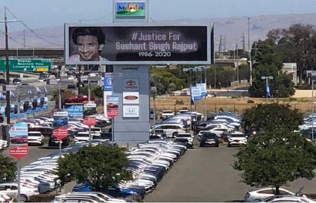 कैलिफोर्निया में लगे सुशांत को इंसाफ दिलाने के पोस्टर, बहन ने तस्वीर शेयर कर कही ये बात