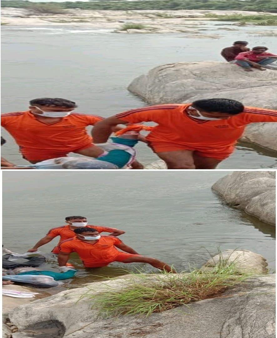 बनास नदी में मूर्ति विसर्जन करने उतरे युवक की बहने से हुई मौत,एसडीआरएफ ने शव को निकाला बाहर