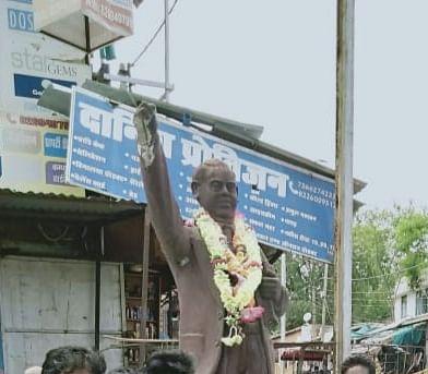 शिवपुरी में अंबेडकर की मूर्ति तोड़ने वाला निकला नाबालिग,  पुलिस ने पकड़ा