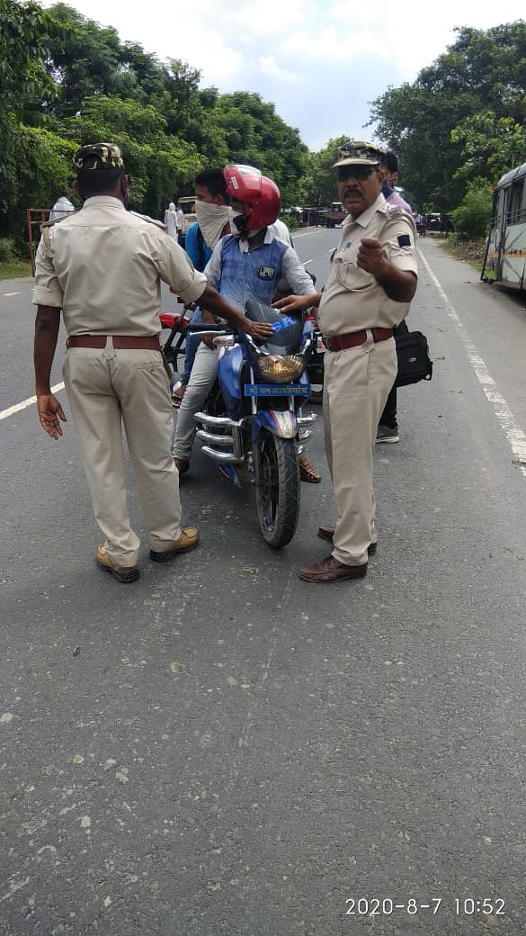खगड़िया जिले में चला वाहन चेकिंग अभियान