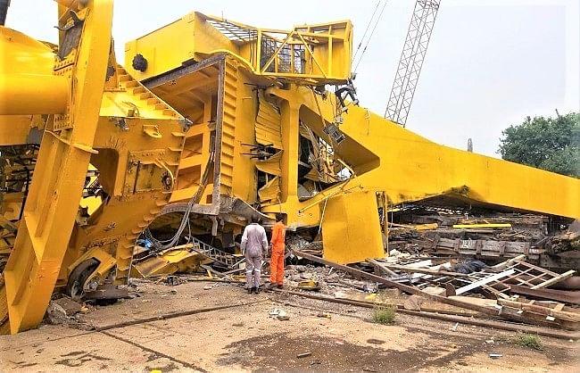 विशाखापट्टनम: हिन्दुस्तान शिपयार्ड में क्रेन टूटकर गिरी, 11 मजदूरों की मौत