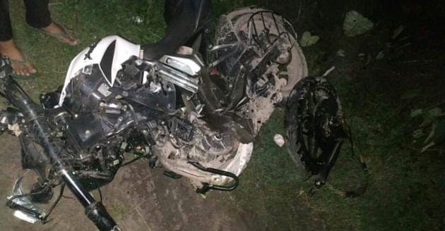 तेज रफ्तार ट्रक के चपेट में आने से बाइक सवार की मौत