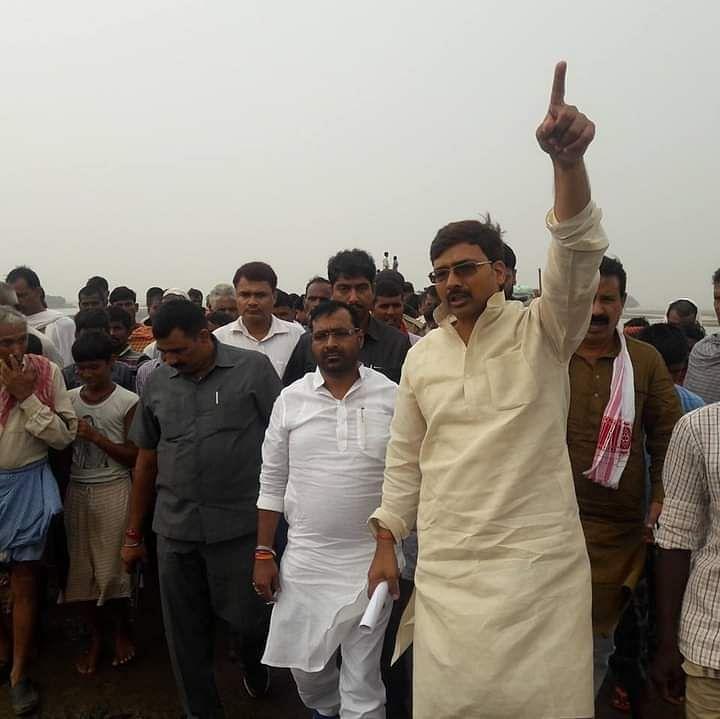 भोजपुर में बक्सर कोइलवर तटबंध की सुरक्षा का  मामला विधायक ने सदन में उठाया