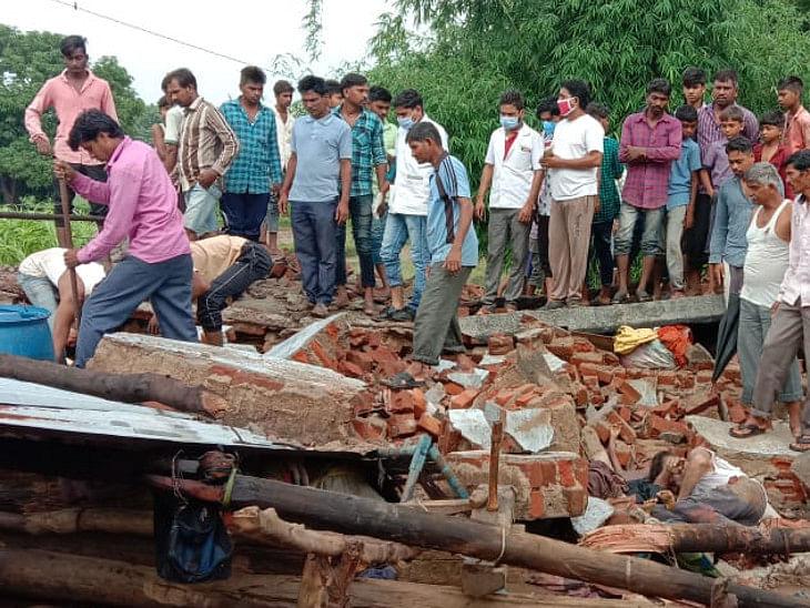 पंचमहाल के जांबुघोडा में भारी बारिश से कच्चा घर ढह गया, एक ही परिवार के 3 सदस्यों की मौत, एक को बचाया