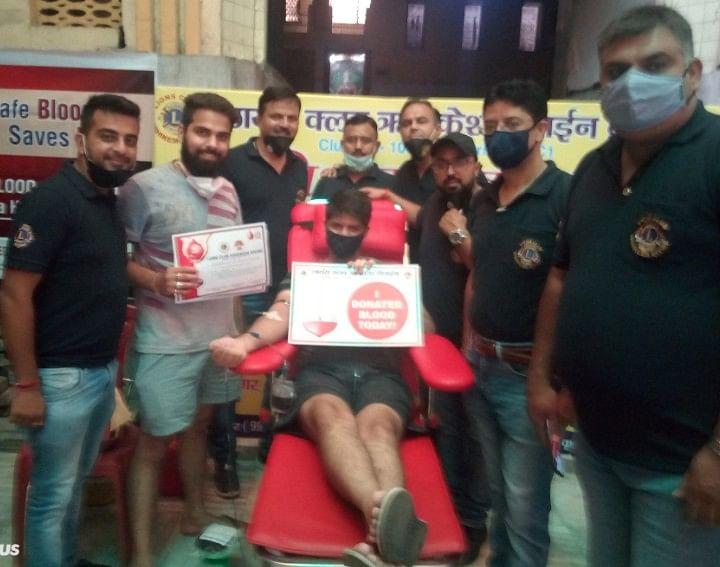 लायंस क्लब डिवाइन के लगाया रक्तदान शिविर