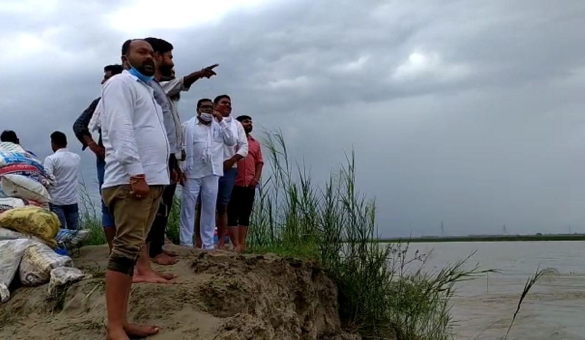 हस्तिनापुर में तटबंध टूटने से आधा दर्जन गांव बाढ़ से प्रभावित