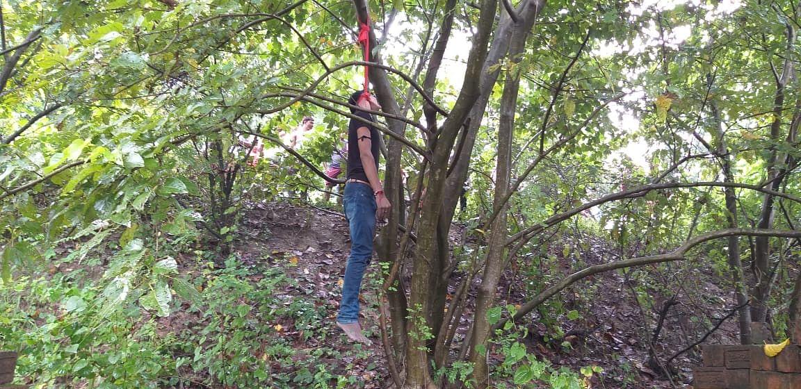 ससुराल आये युवक की पेड़ से लटकी मिली लाश