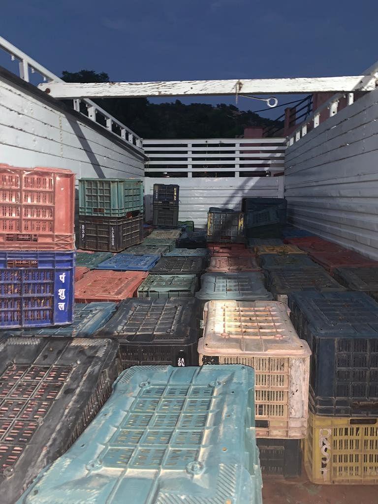 ट्रक में लिफ्ट सिस्टम से तस्करी, 10 लाख मूल्य का डोडा चूरा पकड़ा