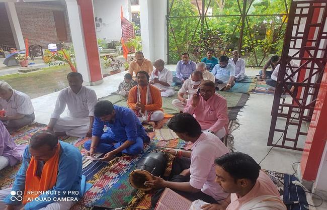 राम मंदिर निर्माण के शिलान्यास पर सुंदरकांड का आयोजन किया