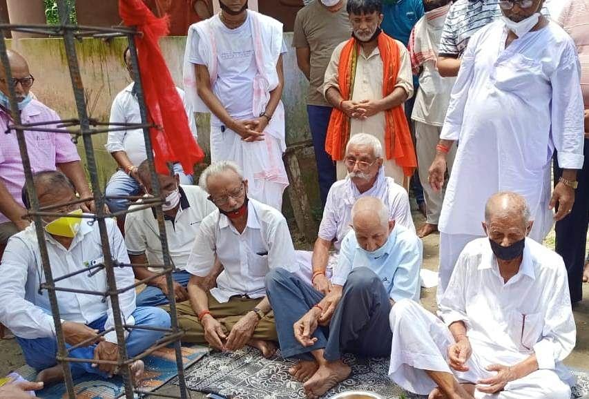 फकिराग्राम में राम मंदिर पुनर्निर्माण के लिए भूमि पूजन सम्पन्न