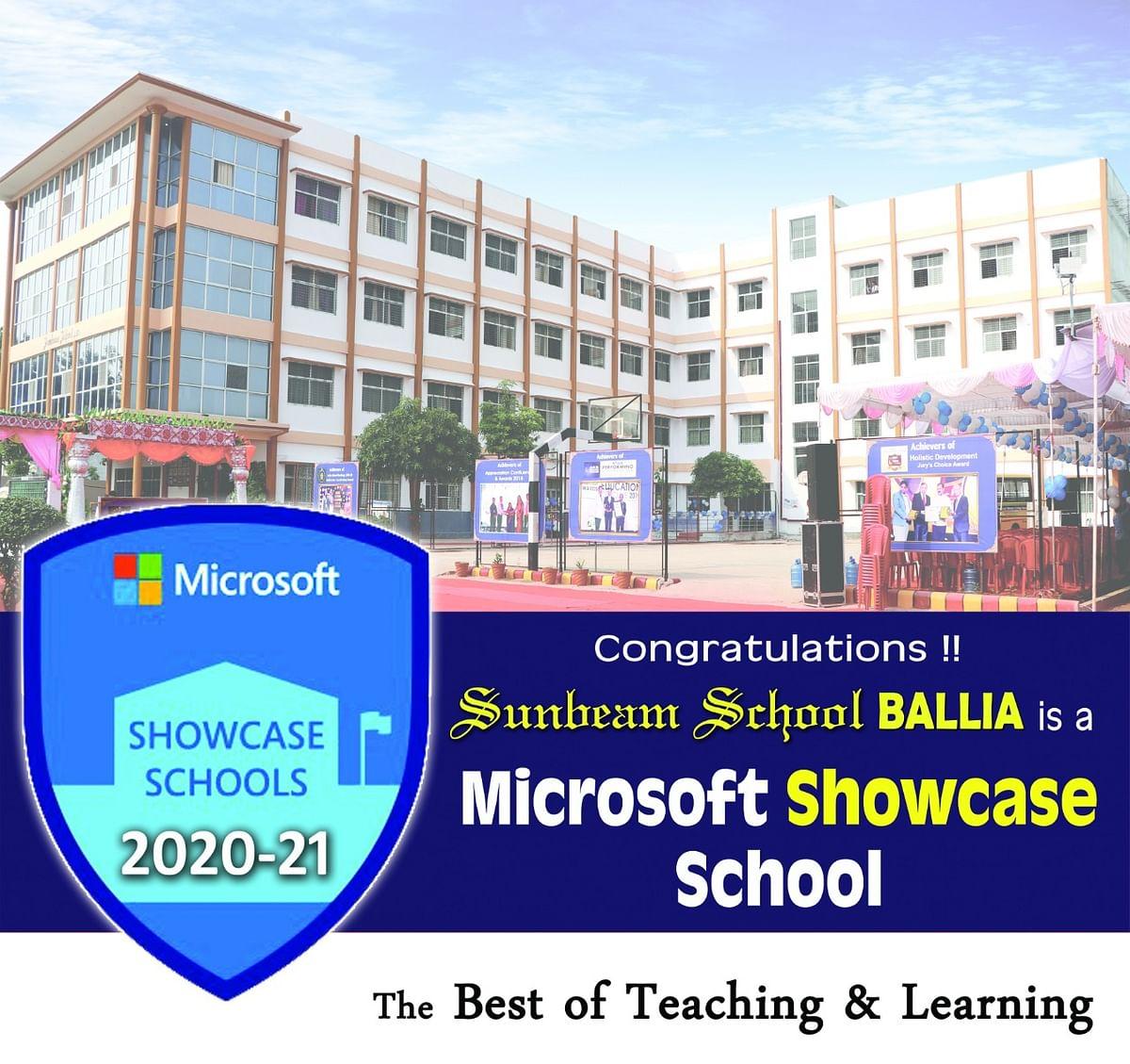 सनबीम स्कूल बना बलिया का पहला माइक्रोसॉफ्ट शोकेस सर्टिफाइड स्कूल