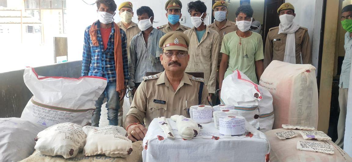 शाहजहांपुर में चार अंतर्राज्यीय लुटेरे गिरफ्तार