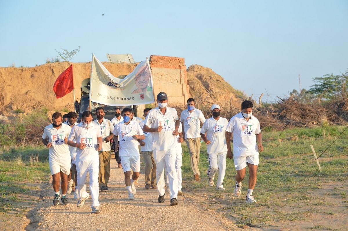 देशवासियों का मनोबल बढ़ाने के लिए बीएसएफ द्वारा फिट इंडिया फ्रीडम रन