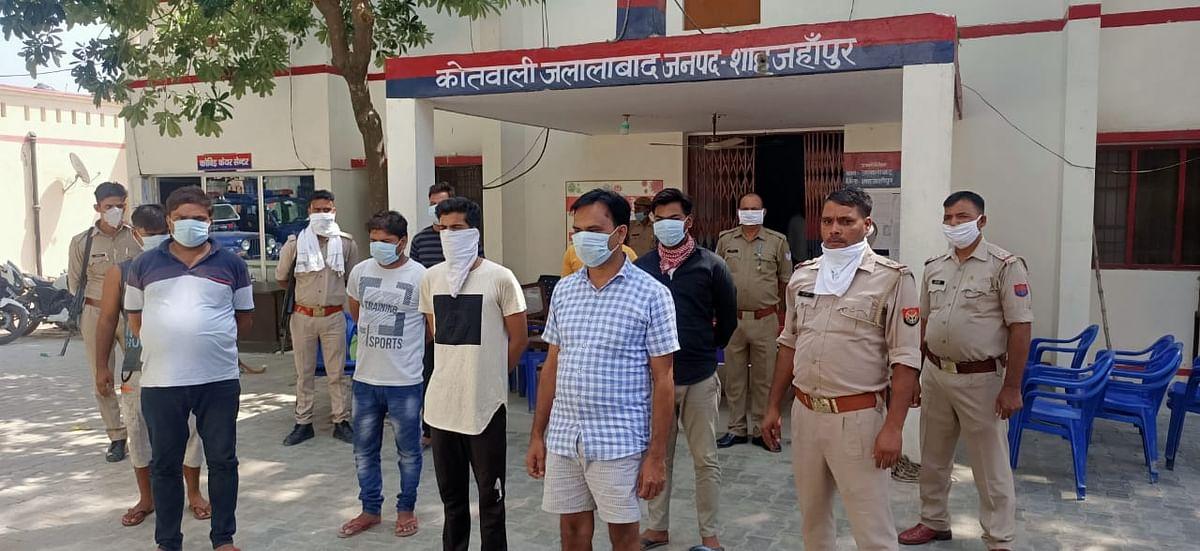शाहजहांपुर:आईपीएल मैच पर सट्टा लगा रहे आठ सट्टेबाज गिरफ्तार