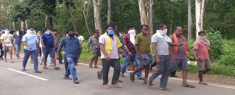 नैमेड़ के व्यापारी संघ ने निकाली जागरूकता रैली
