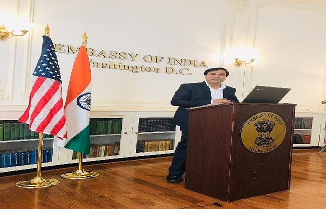 अमेरिका में भारतीय राजदूतावास ने मनाया हिन्दी दिवस