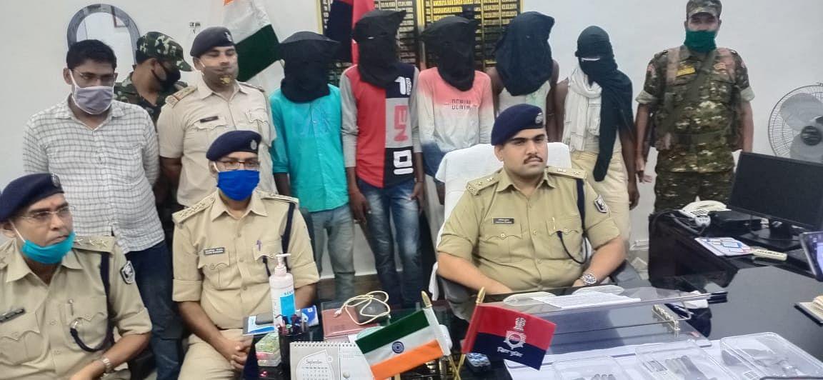 पच्चीस हजार रुपए का ईनामी बदमाश गिरफ्तार, खगड़िया पुलिस के सहयोग से एसटीएफ को मिली सफलता