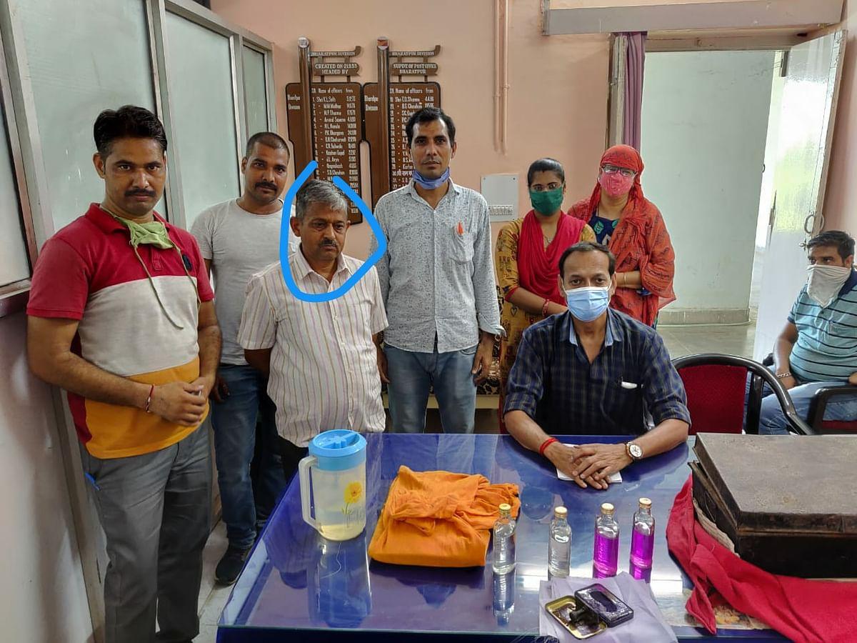 डाक अधीक्षक कार्यालय का सहायक अधीक्षक 30 हजार रुपये की रिश्वत लेते गिरफ्तार