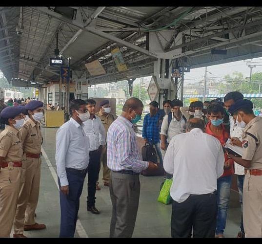 समस्तीपुर-दरभंगा-समस्तीपुर रेलखंड पर चलाया गया विशेष टिकट जाँच