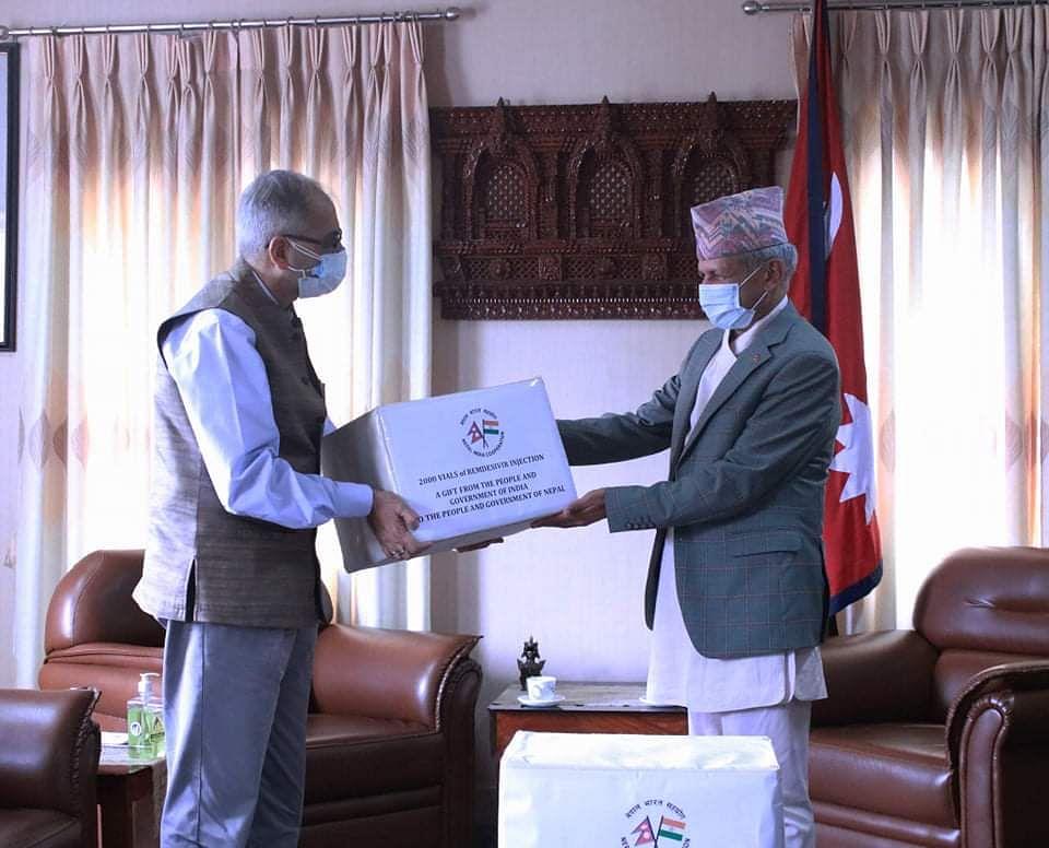 भारत ने नेपाल को दिए रेमडेसिवीर दवा के 21 सेट