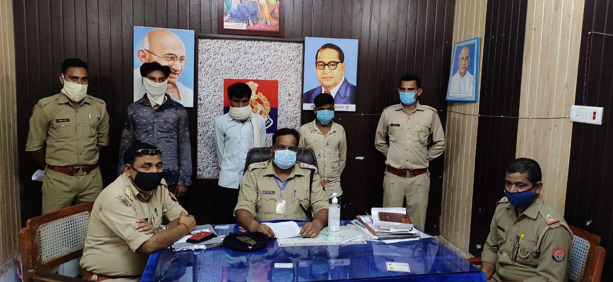 चोरी की वाहनों व असलाह सहित तीन चोर गिरफ्तार