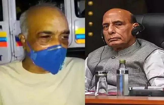 रक्षा मंत्री राजनाथ पूर्व नौसेना अधिकारी से बोले- ऐसे हमले बिल्कुल बर्दाश्त नहीं