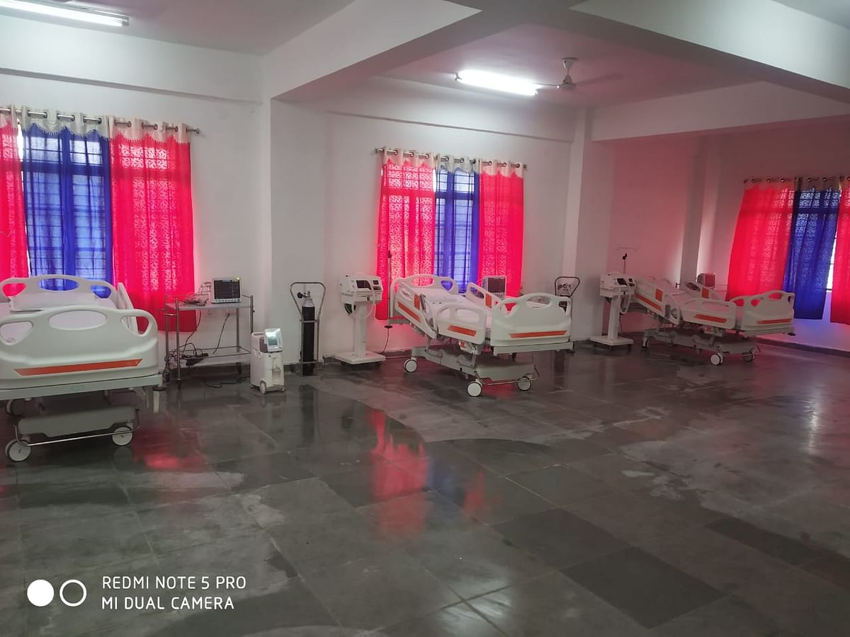 कोविड अस्पताल के आइसीयू वार्ड को किया गया अपग्रेड