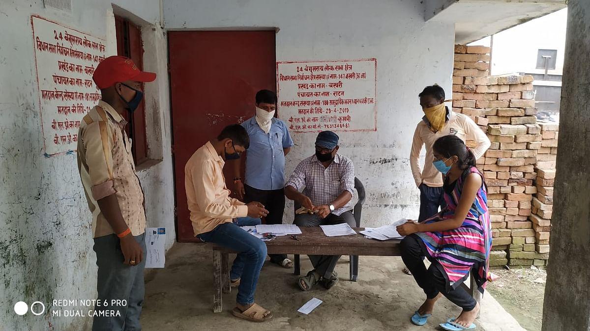 बेगूसराय जिले  के सभी मतदान केंद्रों पर लगे  विशेष निबंधन शिविर