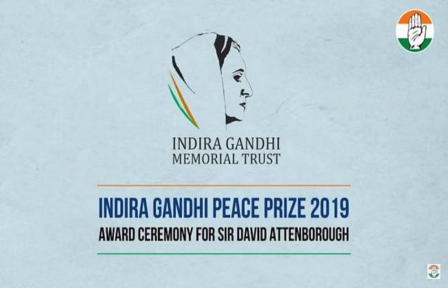 सर डेविड एटनबरो को मिला 2019 का इंदिरा गांधी शांति पुरस्कार