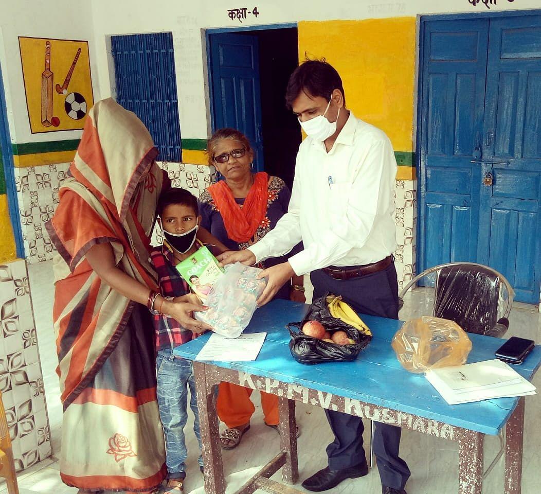 क्षयरोग से पीड़ित बच्चे को बीएसए ने लिया गोद