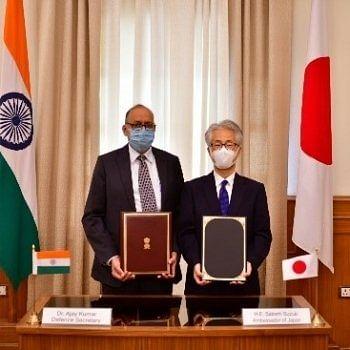 भारत-जापान ने अपनी सेनाओं के बीच आपूर्ति के पारस्परिक प्रावधान के अनुबंध पर हस्ताक्षर किए