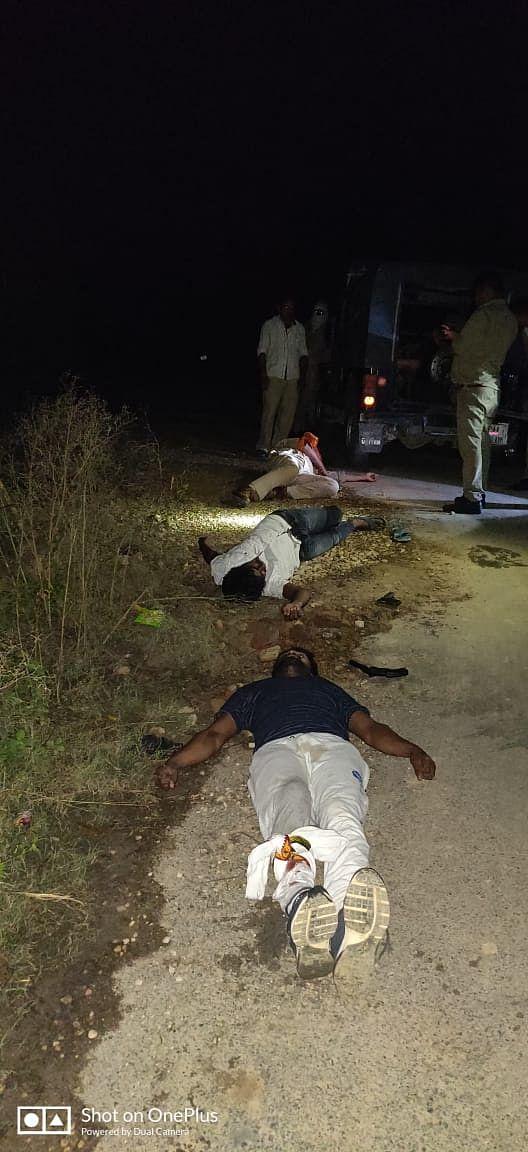 भूपेंद्र सिंह हत्याकांड : मुठभेड़ में पकड़े गए तीन इनामी बदमाश, पुलिस कर्मी घायल
