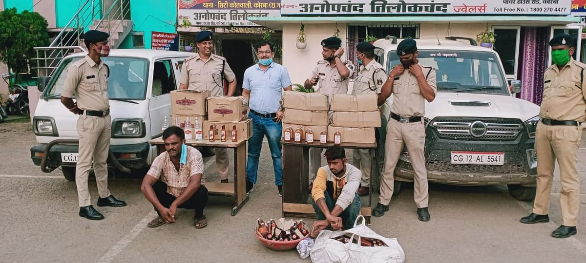 उरगा पुलिस द्वारा भारी मात्रा में शराब तस्कर को स्कार्पियो वाहन सहित किया गिरफ्तार
