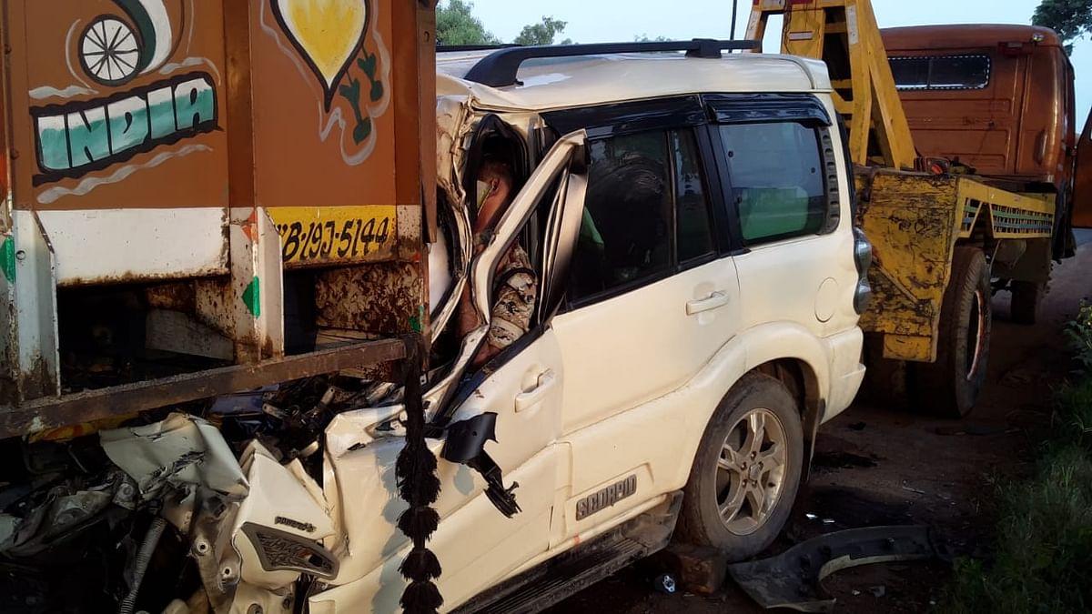 सड़क दुर्घटना में राज्य सशस्त्र पुलिस की सीओ सहित तीन की मौत