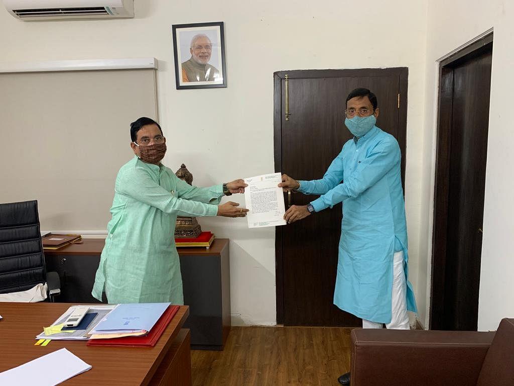 सांसद ने की कोयला मंत्री से मुलाकात, कई मांगों को रखा
